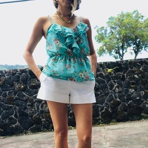 Wet Seal flower top with cinched waist